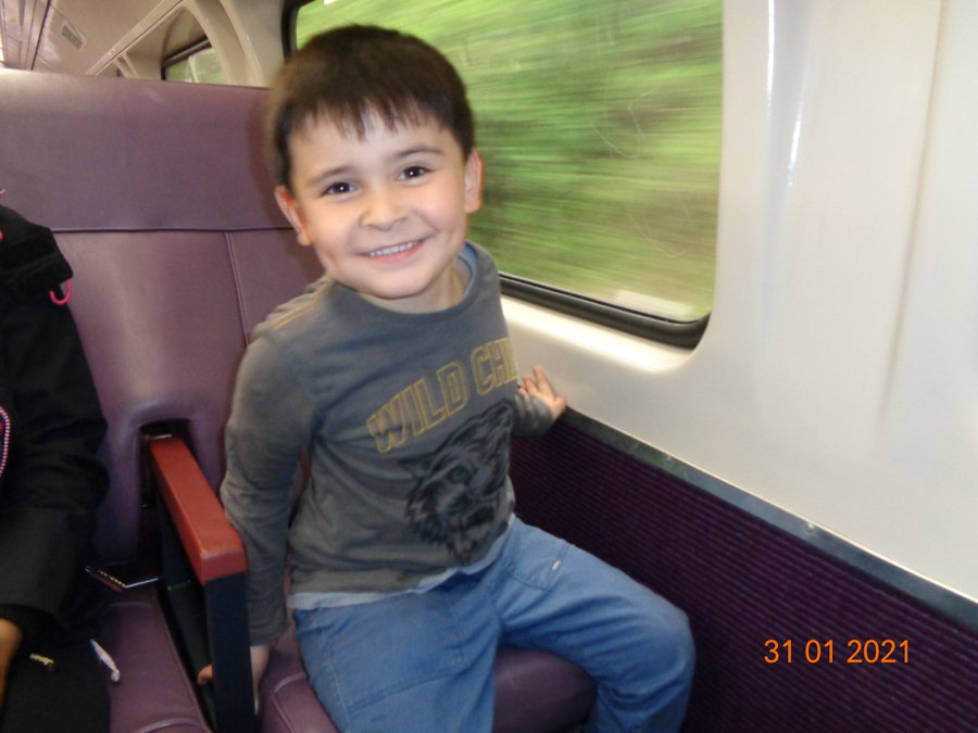 Gareth on Old Train 1